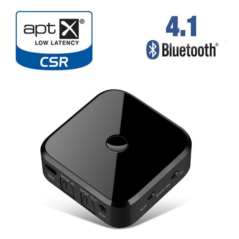 Two In OneApt x HIFI Wireless Adapter Bluetooth Receiver Transmitter Audio 3.5mm SPDIF Optical Fiber for Smartphone PC TV
