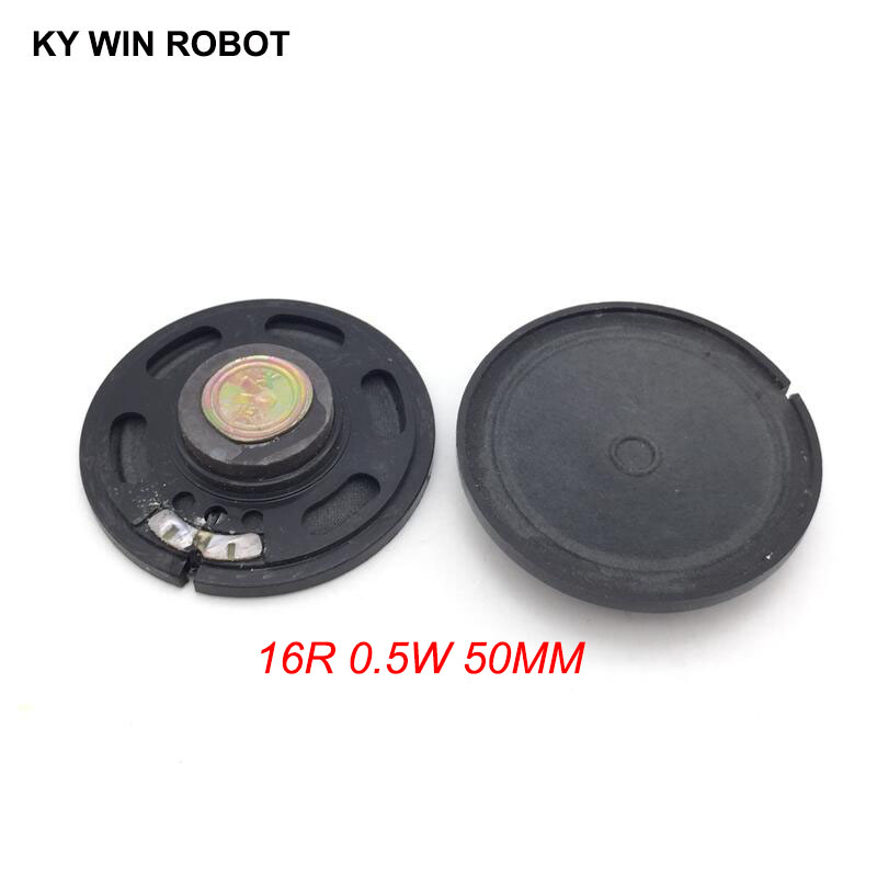 2pcs New Ultra-thin Speaker Doorbell Horn Toy-car Horn 16 Ohms 0.5 Watt 0.5W 16R Speaker Diameter 50MM 5CM Thickness 10MM