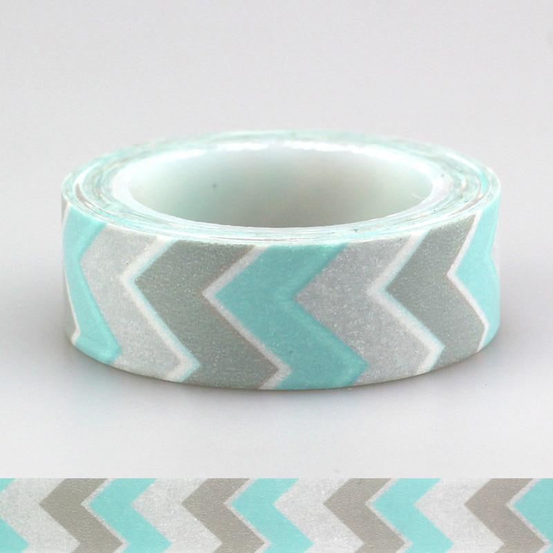 NEW 1X/Lot Pattern for choice Blue white stripes Print Scrapbooking DIY Stickers Decorative Masking Washi Tape Paper Japanese10m keneksi choice white