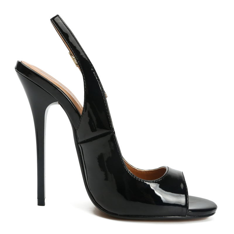 HTB1CKjwdQ5E3KVjSZFCq6zuzXXaE Plus Size 48 Summer Sandals For Women Sexy Fashion High Heels Sandals Women Peep Toe Back Straps Black Red Wedding Party Shoes