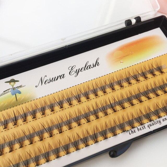1box big capacity 60 bundles 6d 10D Eyelash Extensions 0.1mm Thickness true Mink Strip Eyelashes Individual Lashes Natural Style