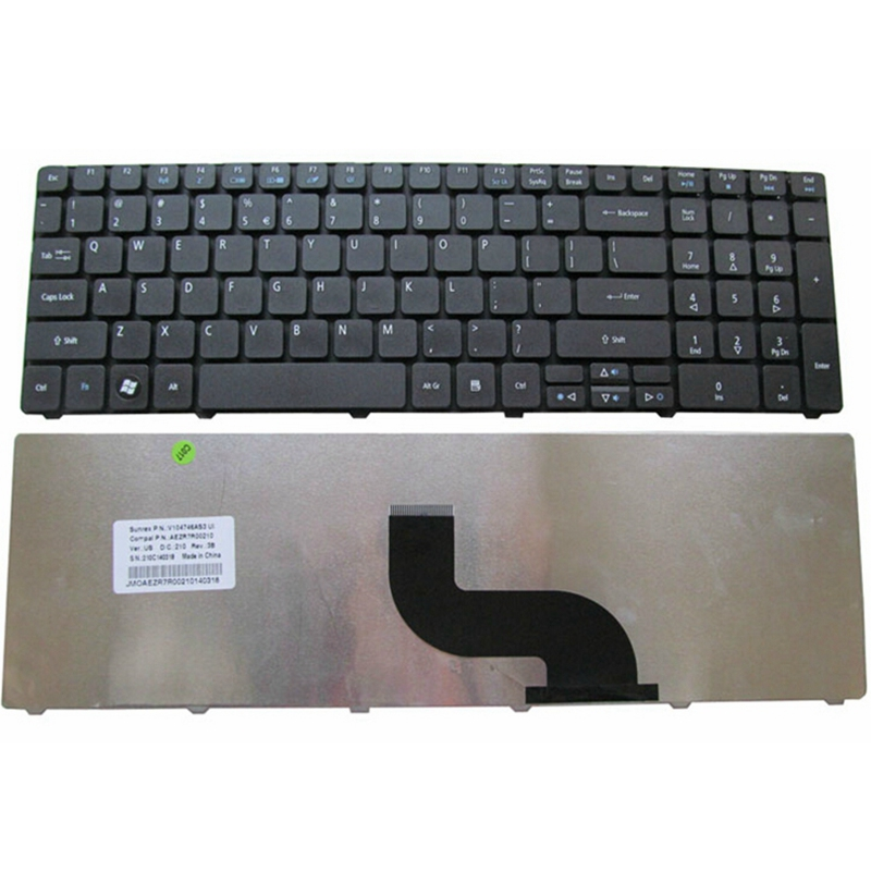 English Keyboard For Acer FOR Aspire 5740 5742 5810T 7735 7551 5336 5410 5536 5536G 5738 5738g 5810 5252 5742G Black Keyboard US