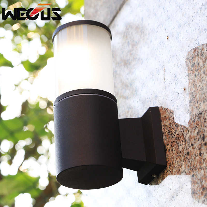 Modern outdoor wall lamp creative buitenverlichting waterproof villa garden lights outside decorative balcony bed-lighting