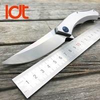 LDT Blue Moon Tactical Folding Knives D2 Blade All Steel Handle Outdoor Survival Camping Knife Pocket