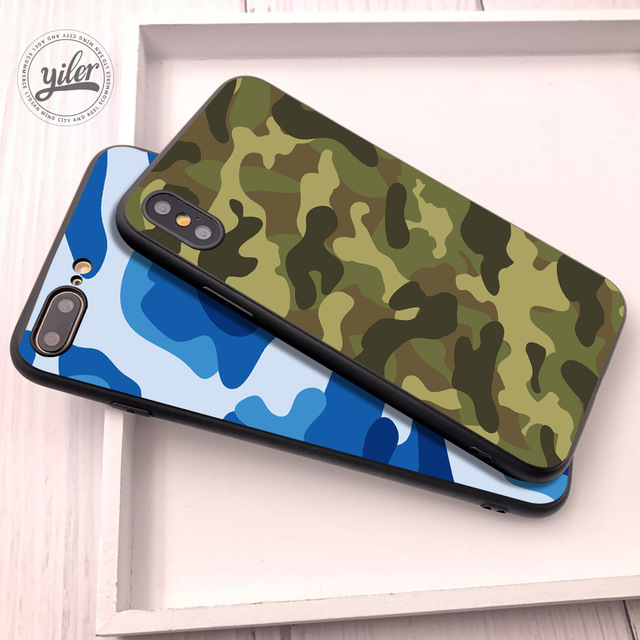 big sale 6445f 3d905 US $1.1 43% OFF|Army Camo Coque For iPhone 5S Case For iPhone XS Max Case  Cover For Funda iPhone XR case for iPhone X SE 5 6 7 8 Plus XS Cases -in ...