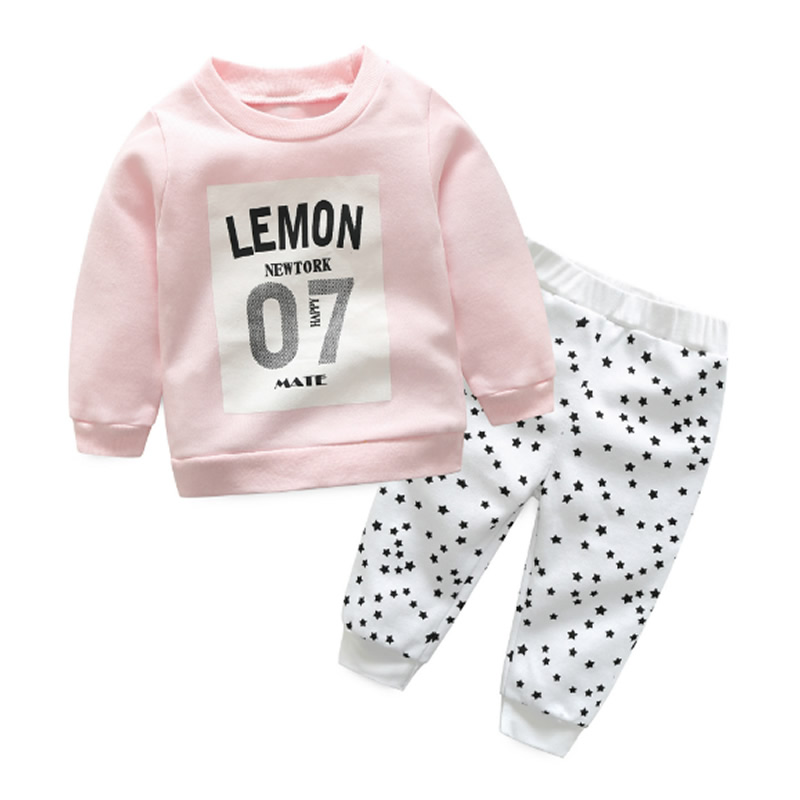 2017 New Infant Baby Clothing Sets Boy Long Sleeve T-shirt+pant Kids Spring Autumn Outfits Set Toddler Suits Girls Clothes winter infant kids baby boy girl clothes sets costume newborn baby clothing sets toddler bebes outfits pajamas wear sport suits