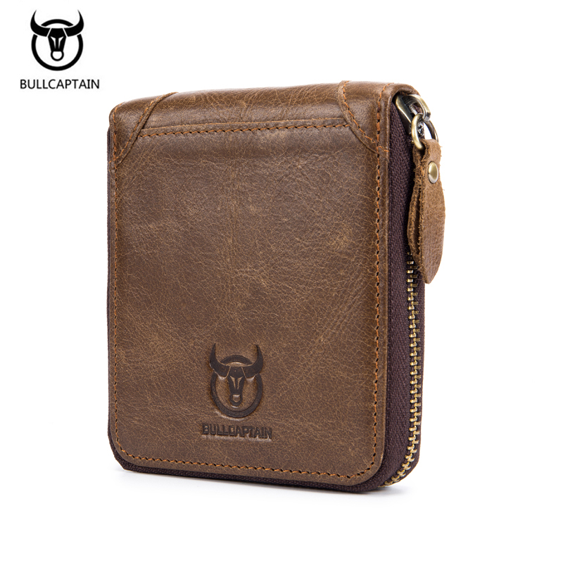 New 100% Genuine Leather Wallet Men Coin Purse Male Cuzdan Small Walet Portomonee Rfid Mini PORTFOLIO Vallet Perse Card Holder mingclan genuine leather wallet men coin purse male cuzdan small wallet portomonee portfolio slim mini purse wallet money bag