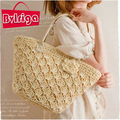BVLRIGA famoso designer de marcas de flores de tricô de palha do saco da bolsa das mulheres bolsa de ombro de alta qualidade saco de praia tote bag bolsos
