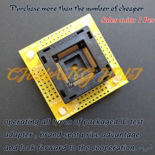 IC TEST QFP100 test socket TQFP100 LQFP100 With PCB board socket ic201-1004-008 ic socket Pitch=0.5mm Size=14x14/16x16mm