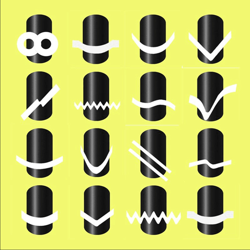 BELESHINY 24pcs/lot French stickers 3d Beauty Sticker for Nails Decal Decorations Manicure Tips Beauty Nail Art Sticker 2pcs gold or silver nail art decorations sticker patch foils armour stickers ongles cool nail stickers for nails beauty manicure