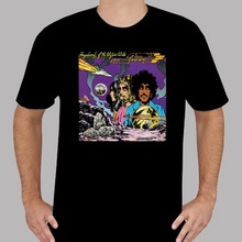 лучшая цена Formal Shirts 100% Cotton Crew Neck New Thin Lizzy Vagabonds Of The Western World Men'S Black Short Sleeve Tee For Men