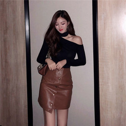 Colorfaith Women Pullovers Sweater 2019 Knitted Autumn Spring Fashion Bottoming Sexy Off the Shoulder Elegant Ladies Tops SW9989 3