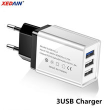 USB Charger 3-Port Plug Fast Charging EU/US Charger for Samsung iPhone XiaoMi Huawei Wall Mobile Phone Universal Adapter Charger(China)