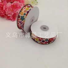 2.5CM Single Face Satin Ribbon DIY Digital Printing Thermal Transfer Sublimation Threaded  Small Flower Series