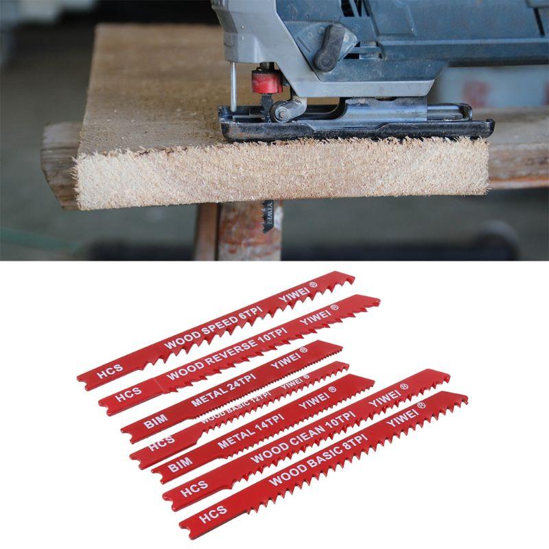 30pcs Assorted Steel U-shank Jigsaw Blade Set Fitting For Plastic Wood Jig Saw Tool