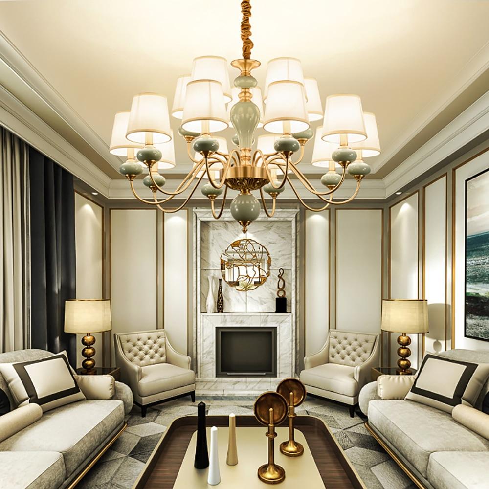 Elegant European Style Living Room Chandelier Lighting