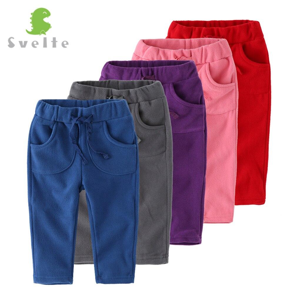 SVELTE Brand Kids Boys Girls Casual Pants Trousers For Spring Autumn Unisex Polar Fleece Pants Children