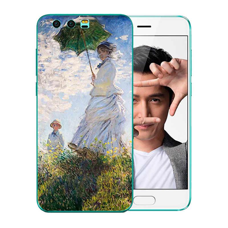 Чехол для телефона s для huawei Honor 9, чехол, 5,15 дюймов, рисунок Ван Гога, мягкие чехлы из ТПУ на заднюю панель, чехол для Honor 9, чехол