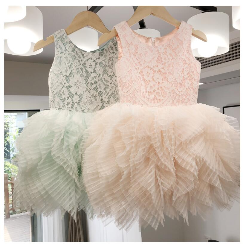 c71ae33b59 Detail Feedback Questions about 2018 brand design children ruffles splicing princess  tutu dress toddler girl lace dress flowers kids girls birthday vestido ...