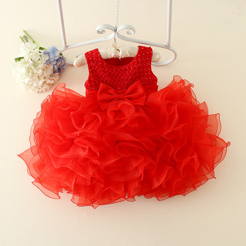 Baby Girls Dress Lace Flower Wedding Dress Christening Cake Dresses for Party Occasion Kids 0-2 Years Baby Girl Birthday Dress