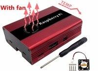 Raspberry Pi 3 Aluminum Alloy Metal Shell With Fan Compatible Raspberry 2 Rpi B Good Heat