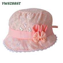Baby Girl Hat Fashion Summer Infant Hats with Bowknot Princess Cap Lace Hat Breathable Newborn Hat Photo props