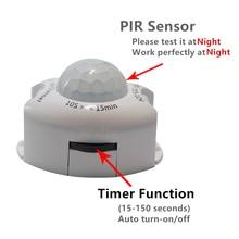 купить DC5V-DC12V PIR Motion Sensor Light Switch Movement Detector Activated Timer Automatic Switch ON OFF LED Night Light Bedside lamp дешево