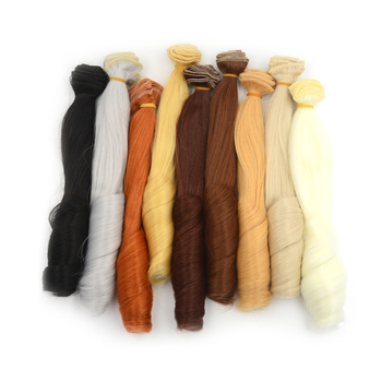 1pc 2New High Temperature Curly Doll Wigs Brown Khaki Black Heat Doll Hair 1/3 1/4 1/6 BJD Diy Doll Wigs 0*100cm image