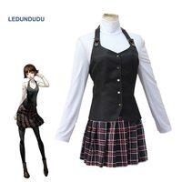 Game Persona 5 Makoto Niijima School Uniform Women Cosplay Costumes Halloween Funny Party Clothes Full Set