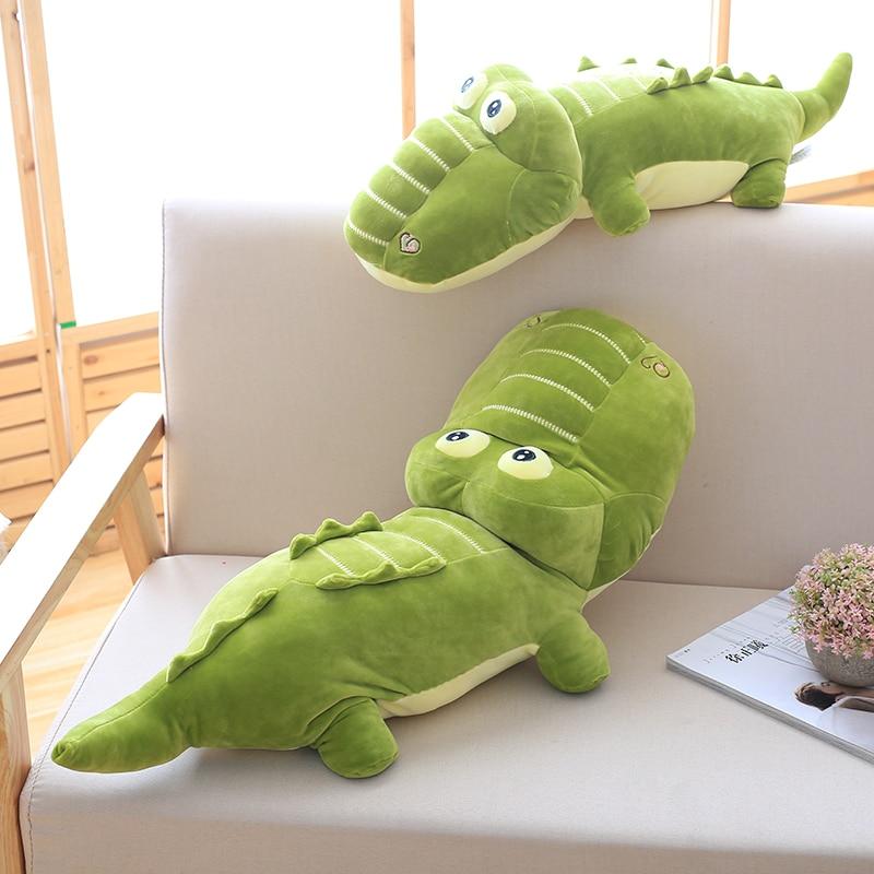 1pc 45-100cm Simulation Crocodile Plush Toys Stuffed Soft Animals Plush Cushion Pillow Doll Home Decoration Gift for Children