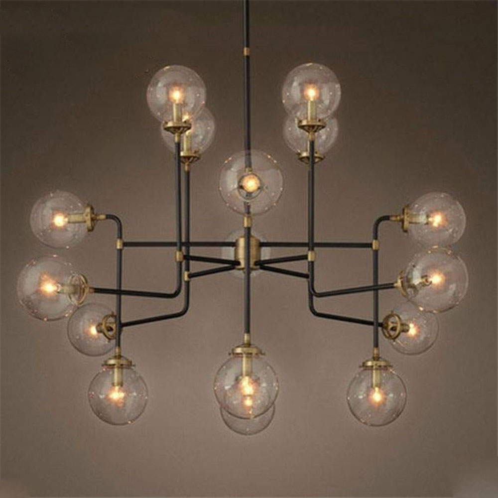 nordic style industrial store restaurant hanging pendant lights vintage arts glass lustres ball. Black Bedroom Furniture Sets. Home Design Ideas