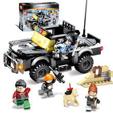 City police Camp Trucks Jeeps Car Building Blocks Sets Bricks Army Soldiers Weapon Educational Toys for Children gift Compatible