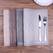 4pcs/lot Placemat Upscale Christmas Tree Pvc Placemats for Dining Table Mat Pot Bowl Mat Drink Coasters Non-slip Insulation Pads