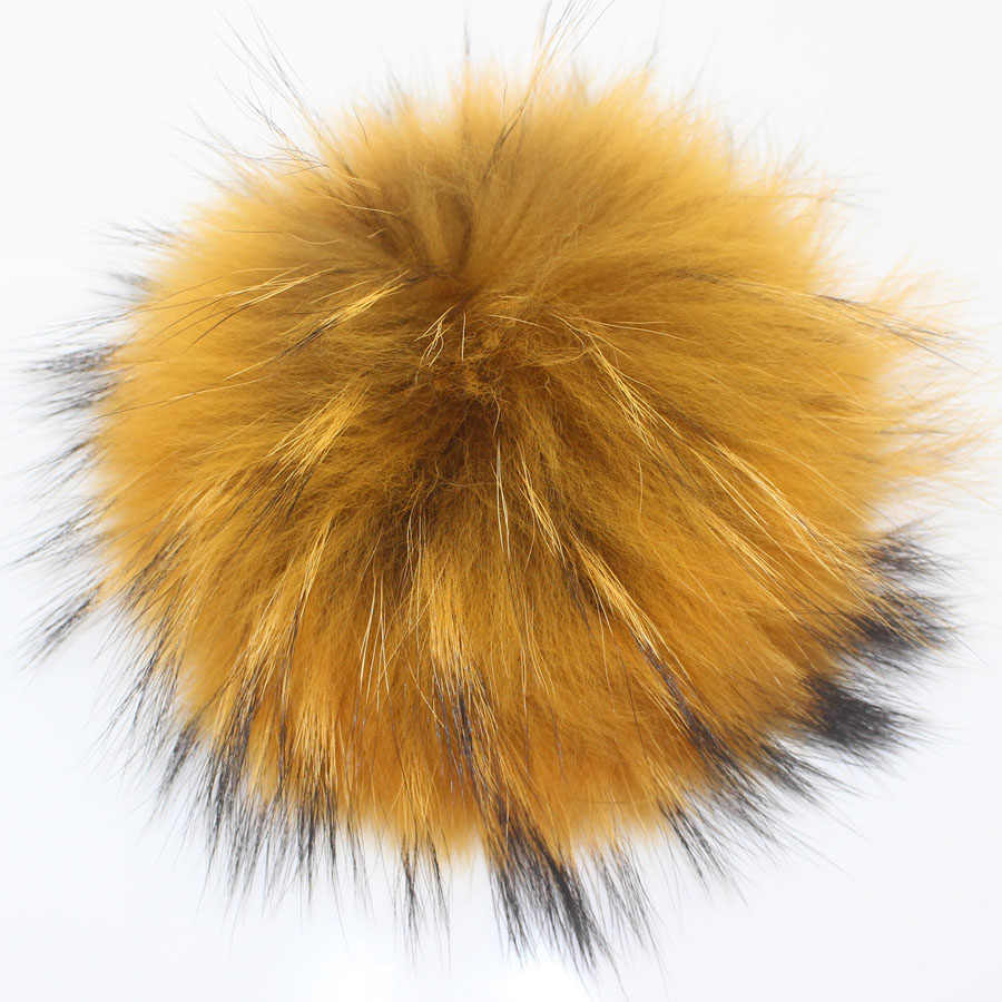 15cm solide et coloré fourrure de raton laveur boule de fourrure Pom Poms pour femmes enfants chapeau d'hiver et bonnet bonnets pompon de fourrure