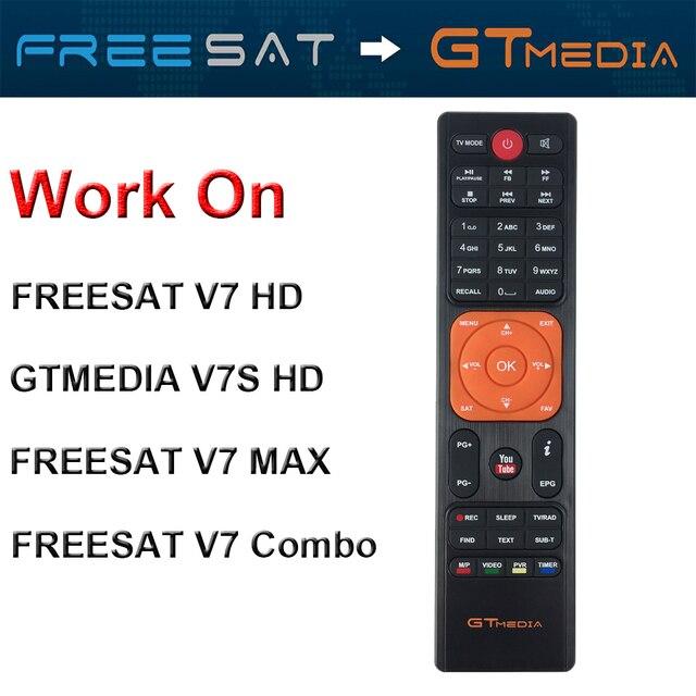 Genuine GTMedia Freesat HD Por Satélite Receptor de Controle Remoto para V7 V7S HD V7 V7 Max Combo
