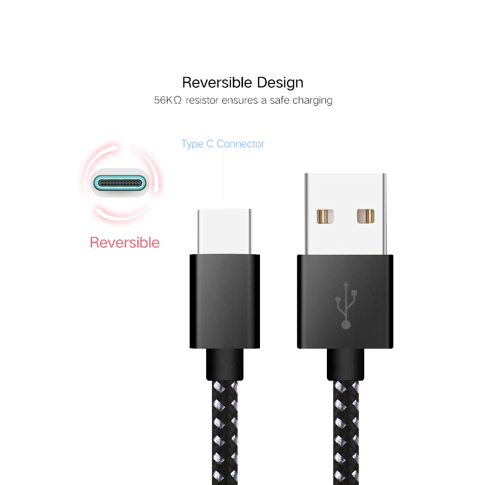 Suntaiho USB Type-C Cable [3 PACK] 1M 2M 3M Fast Charging & Sync Data Type-C USB Charger Cable for Macbook Xiaomi 4c NEXUS 5X