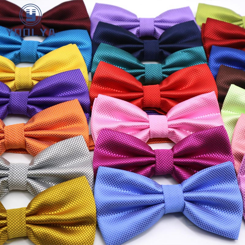Hot Mens Polyester Bow Ties Adjustable Man Bowstie Butterflies Solid Black Red Pink Plaid Check Tuxedo Party Wedding Butterfly