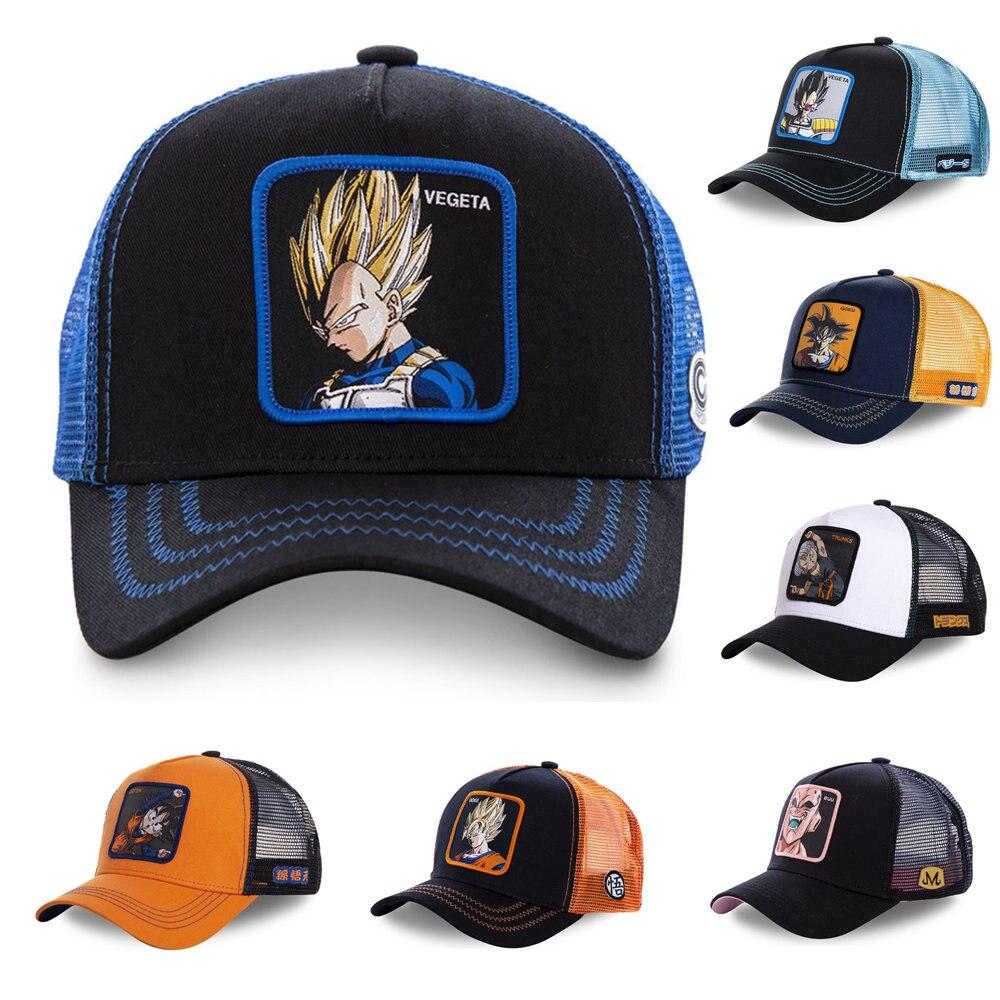 Dragon Ball New Brand 12 Styles Snapback   Cap   Cotton   Baseball     Cap   Men Women Hip Hop Dad Mesh Hat Trucker Hat Dropshipping
