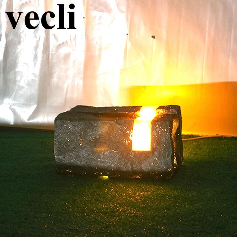 Luces de jardín de energía VECLI tienda al aire libre afilada lampa ogrodowa lámparas para Sendero impermeables