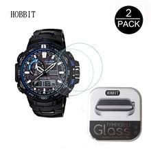 04e0a2e2ab1 Pacote Para Casio G-choque ga-100 GA-110 2 GA100 GA110 0.3mm 2.5D 9 H Vidro  Temperado Protetor de Tela relógio inteligente pelíc.