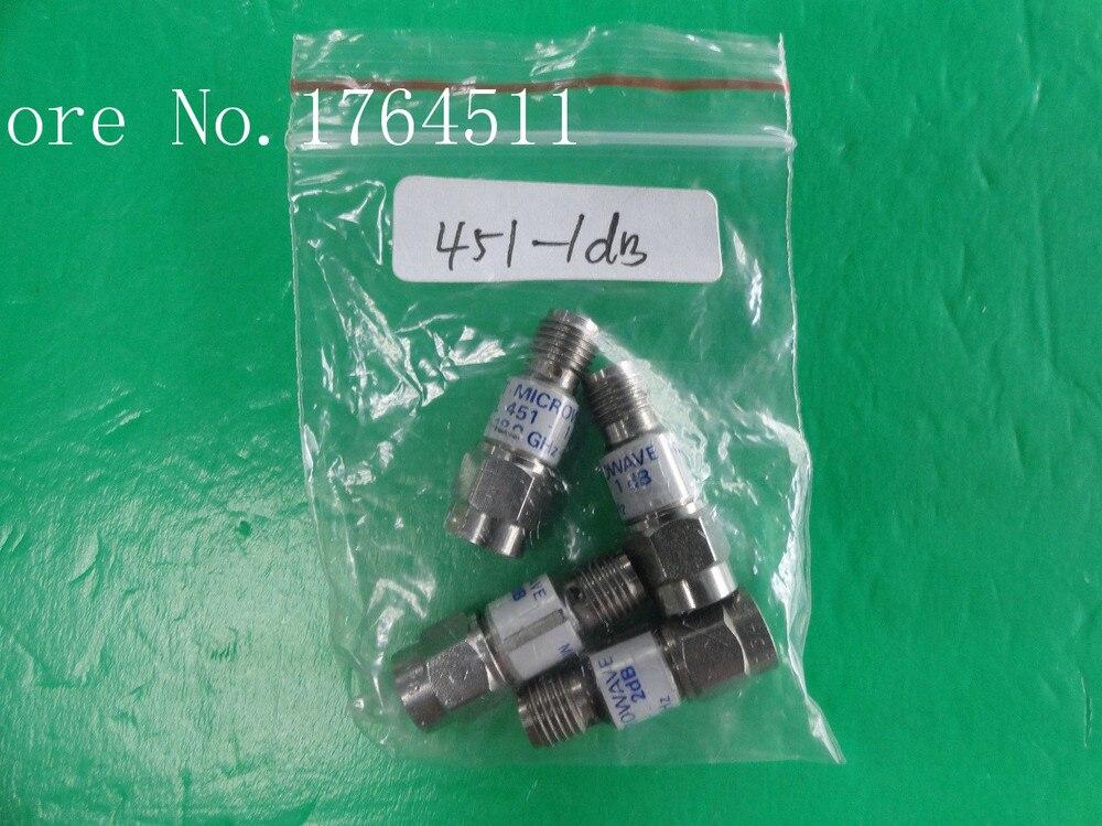 [BELLA] MIDWEST 451-1dB DC-18GHz 1dB 2W SMA Coaxial Fixed Attenuator  --2PCS/LOT