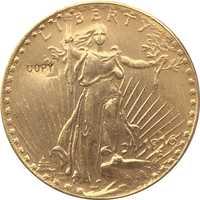 1916-S $20 St. Gaudens copia de moneda envío gratis