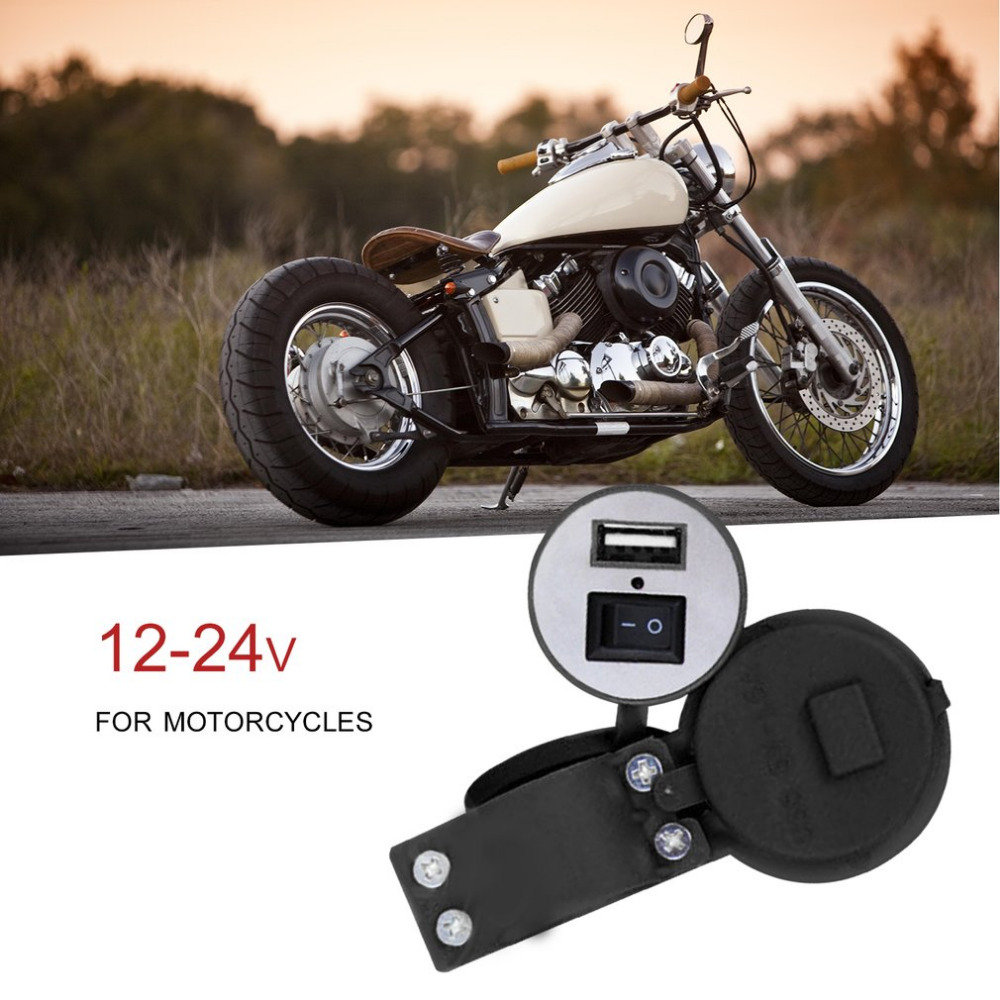 USB Motorcycle Mobile Phone Charge Socket USB Waterproof Power Supply 12-24V Motorcycle Modify USB Charger Adapter Accessory
