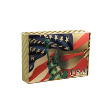 Table Game Gifts 24k Gold Foil Gold Playing Card USA Liberty Poker Card Personalized Gift super marioed 64 usa version gray game card for usa ntsc game player