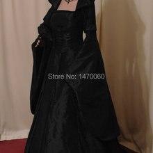 Средневековый Ренессанс Свадебный Gotthic Handfasting Dress Атласная Лента Ренессанс Dress Таможенные Все Размер