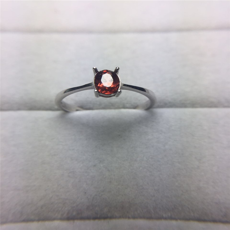 925 Sterling Silver 4*6mm Luxury Oval Cut Natural Red Garnet For Women Engagement Rring Anniversary Gemstone Ring