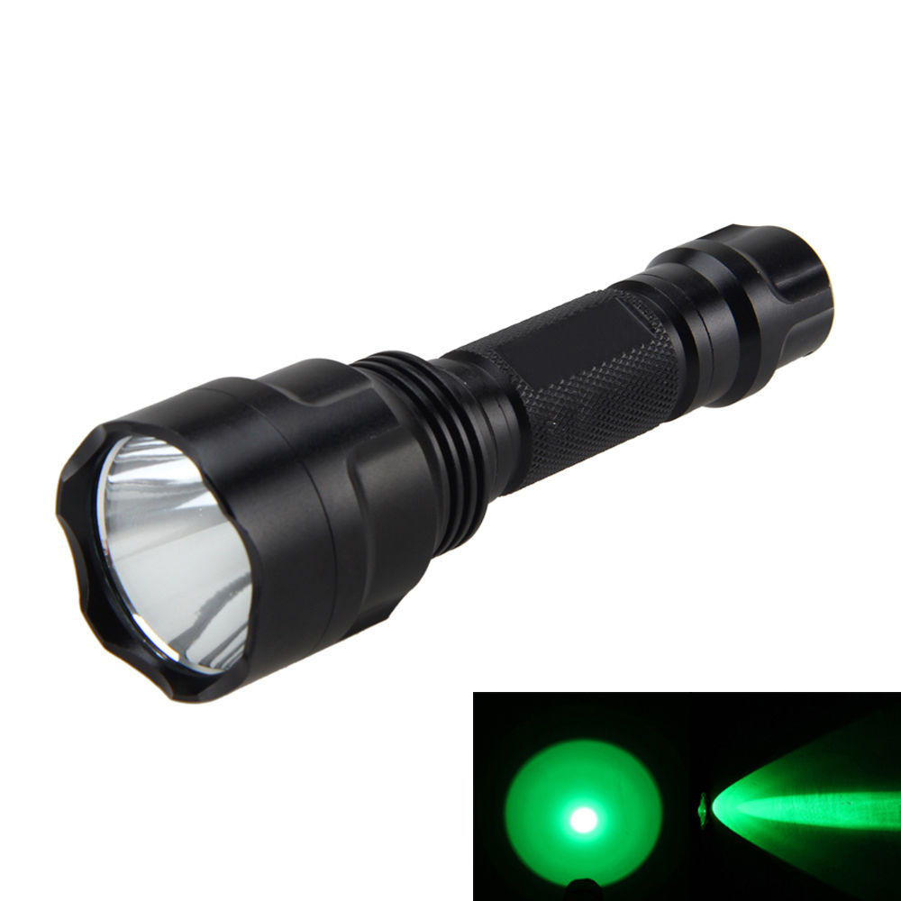 3000Lm Q5 Green LED Tactical Flashlight Self-defense Torch Light 1 Mode Hunting Camping Lamps 18650 spro necton atx green 3000