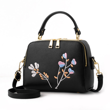 FLYLEAF Pu Leather Women Leather Handbag Famous Brand Women Crossbody Women Shoulder Bag Pouch Embroidering Flower Female Bag