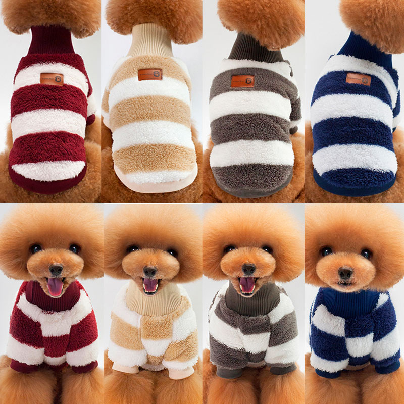 5.04US $ 32% OFF Winter Dog Clothes Warm Soft Dog Coat For Small Dogs Sweater Clothing Puppy Outfit ...