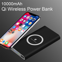 10000mAh Qi wireless powerbank Charger Power Bank External Battery Wireless Charging For iPhone 6 6s 11 X Samsung huawei Xiaomi Power Bank     -